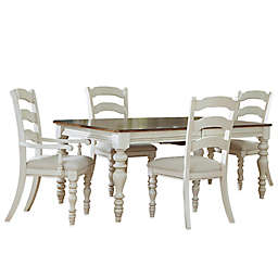 Hillsdale Pine Island Dining Set with Ladder Back Side Chairs