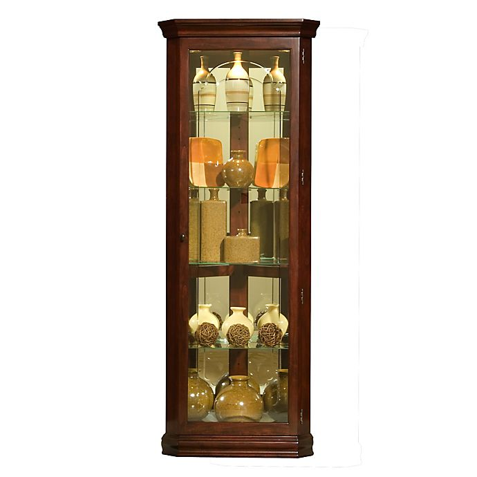 Bed Bath And Beyond Beaumont: Buy Pulaski Mirrored Corner Curio In Victorian Cherry From
