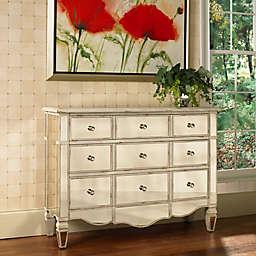 Pulaski Mirrored Accent Chest in Antique Creamy White