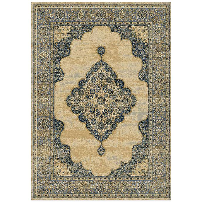 Alternate image 1 for Radiance Traditional 6-Foot 6-Inch X 9-Foot 10-Inch Area Rug in Gold/Navy