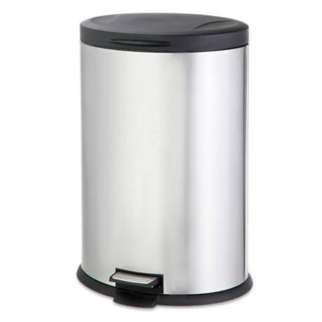 salt stainless steel oval 40 liter step trash can bed bath beyond. Black Bedroom Furniture Sets. Home Design Ideas