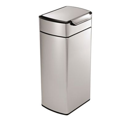 Buy Simplehuman® Brushed Stainless Steel Fingerprint Proof Rectangular 30 Liter Touch Bar Trash Can by Bed Bath And Beyond