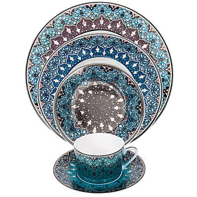 Philippe Deshoulieres Dhara Dinnerware Collection in Peacock Blue