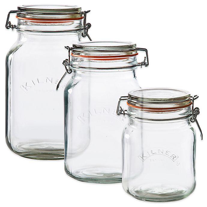 Alternate image 1 for Kilner® Square Clip Top Canning Jar
