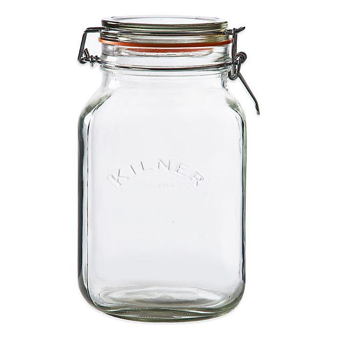Alternate image 1 for Kilner® 68 oz. Square Clip Top Canning Jar