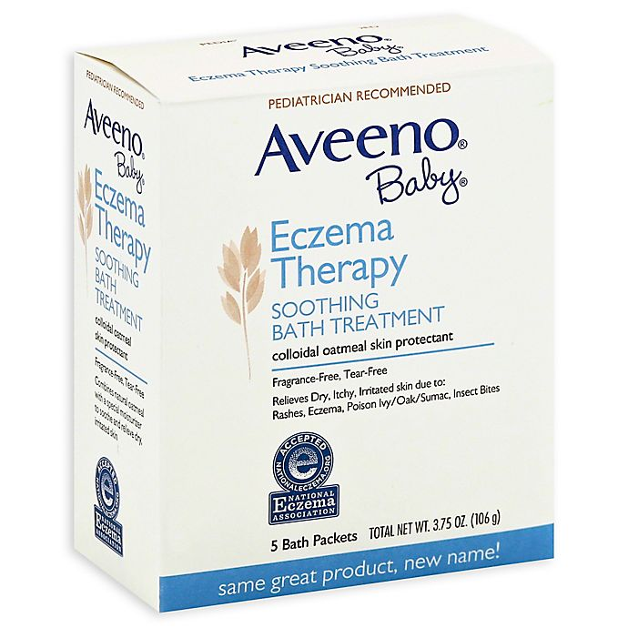 Alternate image 1 for Aveeno® Baby® 5-Count Eczema Therapy Soothing Bath Packs