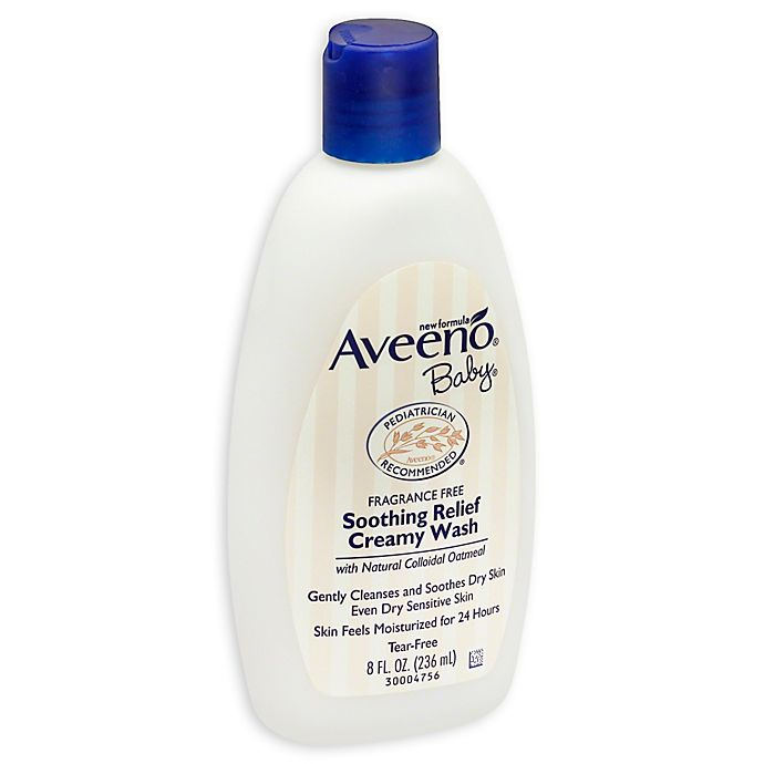 Alternate image 1 for Aveeno® Baby® 8 oz. Soothing Relief Creamy Body Wash