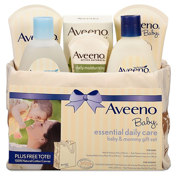 Alternate image 1 for Aveeno® Baby Essential Daily Care Baby & Mommy Gift Set