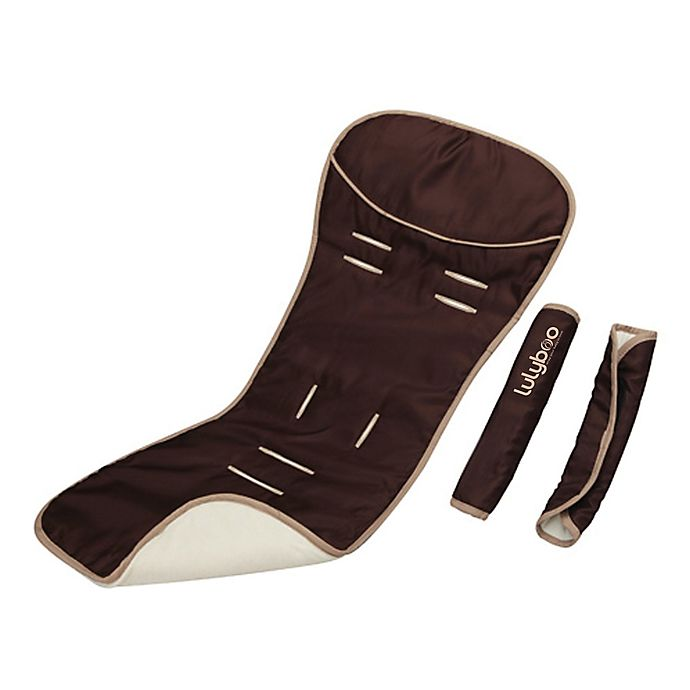 Alternate image 1 for LulyBoo® Comfy Ride Reversible Seat Liner and Strap Cover Set in Chocolate Vanilla