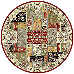 Safavieh Lyndhurst Floral Patchwork 8-Foot Round Rug in Tan