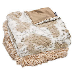 Luxe Limited Collection Snow Leopard Faux Fur Throw