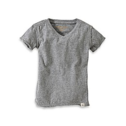 Burt's Bees Baby® Organic Cotton Short Sleeve V-Neck T-Shirt in Heather Grey