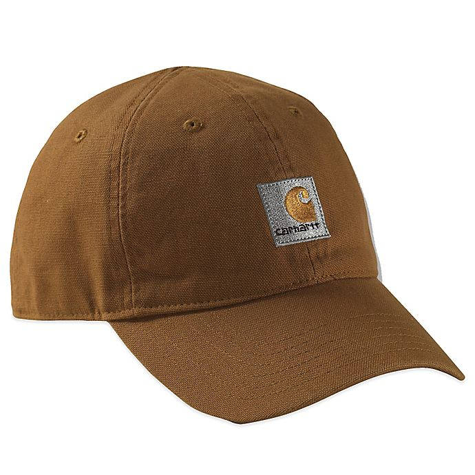 Alternate image 1 for Carhartt® Solid Logo Hat in Brown
