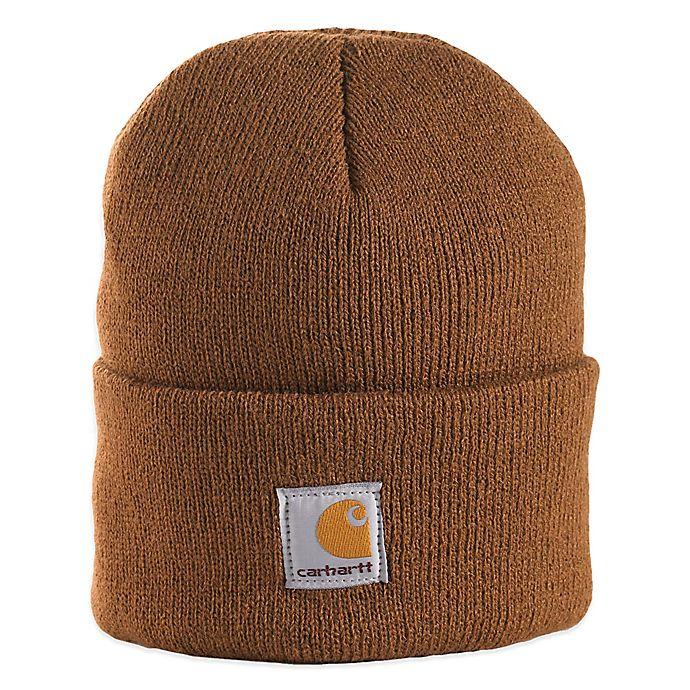 Alternate image 1 for Carhartt® Infant/Toddler Foldover Knit Hat in Brown