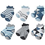 Capelli New York Size 3-12M 6-Pack Argyle Stripe Socks