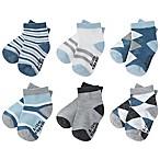 Capelli New York Size 12-24M 6-Pack Argyle Stripe Socks