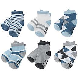 Capelli New York Size 3-12M 6-Pack Argyle Stripe Socks