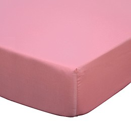 The Peanutshell™ Gia Fitted Crib Sheet in Coral