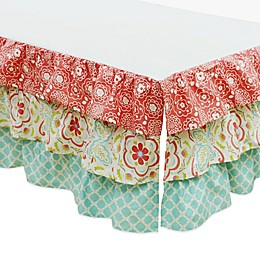 The PeanutShell™ Gia Layered Crib Skirt