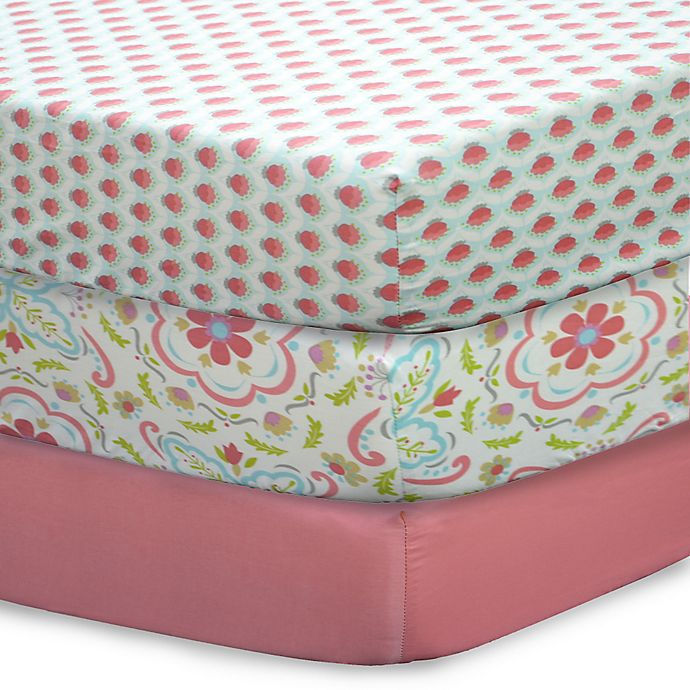 Alternate image 1 for The Peanutshell™ Gia Mix & Match Fitted Crib Sheets