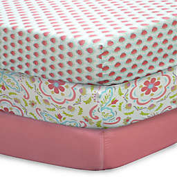 The Peanutshell™ Gia Mix & Match Fitted Crib Sheets