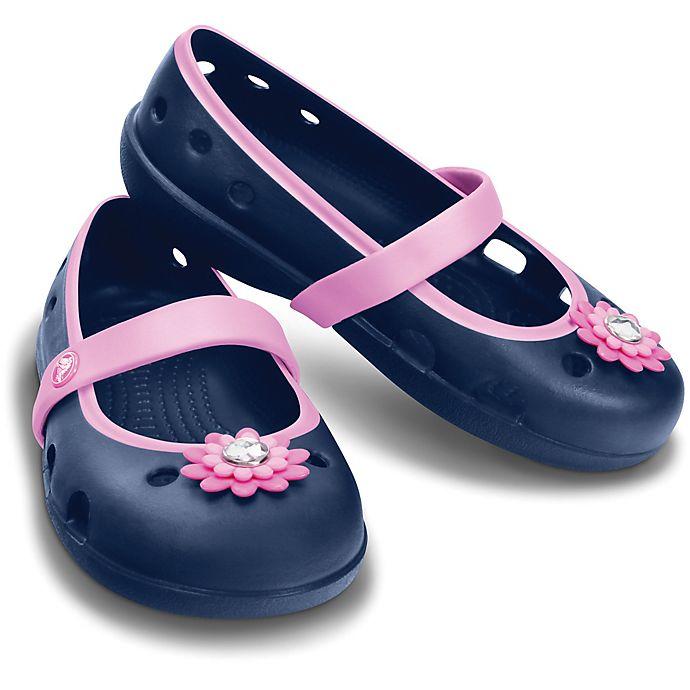 Crocs™ Kids  Keeley Petal Charm Sandal in Navy  22baf777f5