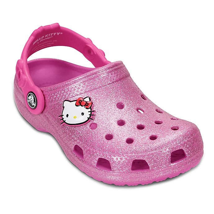 ffec59009 Crocs™ Hello Kitty® Kids' Glitter Clog in Party Pink | buybuy BABY