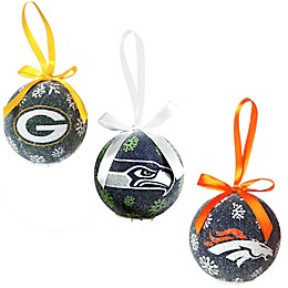 NFL LED Lighted Christmas Ornament Set (Set of 6)