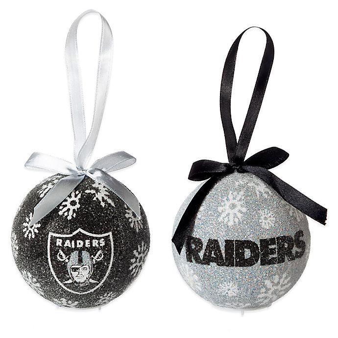 Nfl Oakland Raiders Led Lighted Christmas Ornament Set