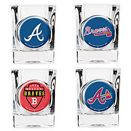 MLB Atlanta Braves Collector's Shot Glasses (Set of 4)