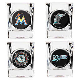 MLB Miami Marlins Collector's Shot Glasses (Set of 4)