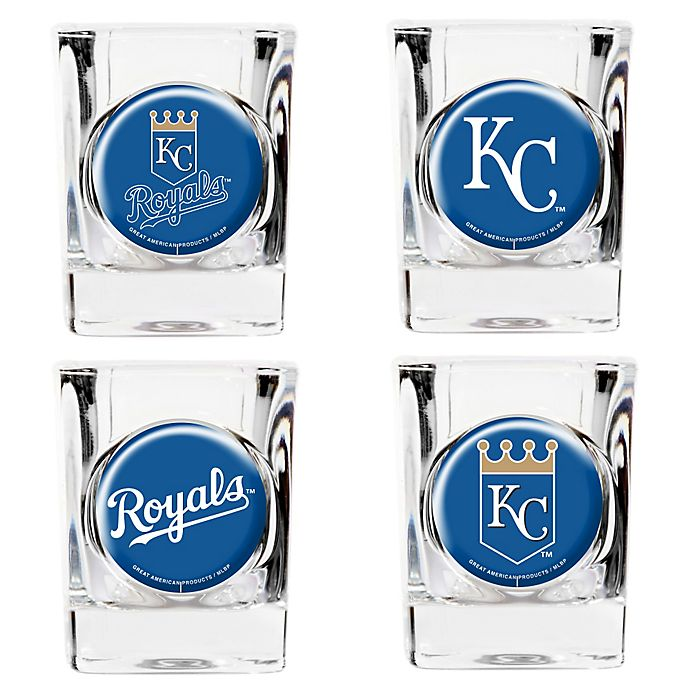 Alternate image 1 for MLB Kansas City Royals Collector's Shot Glasses (Set of 4)
