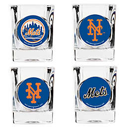 MLB New York Mets Collector's Shot Glasses (Set of 4)