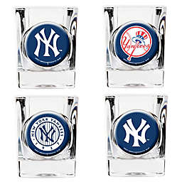 MLB New York Yankees Collector's Shot Glasses (Set of 4)