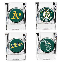MLB Oakland Athletics Collector's Shot Glasses (Set of 4)