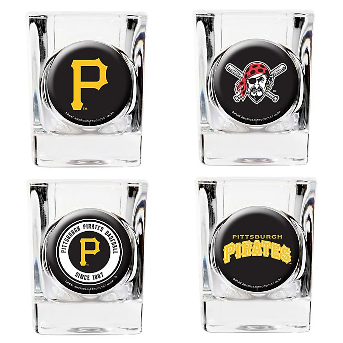 Alternate image 1 for MLB Pittsburgh Pirates Collector's Shot Glasses (Set of 4)