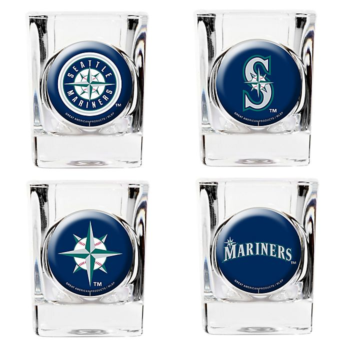 Alternate image 1 for MLB Seattle Mariners Collector's Shot Glasses (Set of 4)