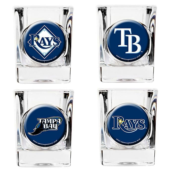 Alternate image 1 for MLB Tampa Bay Rays Collector's Shot Glasses (Set of 4)
