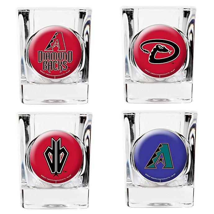 Alternate image 1 for MLB Arizona Diamondbacks Collector's Shot Glasses (Set of 4)