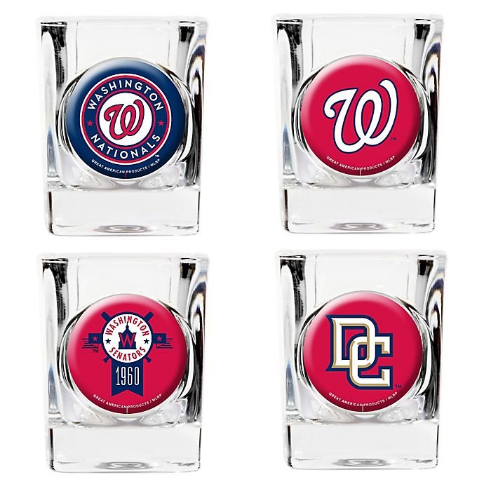 Alternate image 1 for MLB Washington Nationals Collector's Shot Glasses (Set of 4)