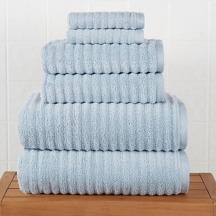 Alternate image 1 for Haven™ Wave Organic Cotton 6-Piece Towel Set