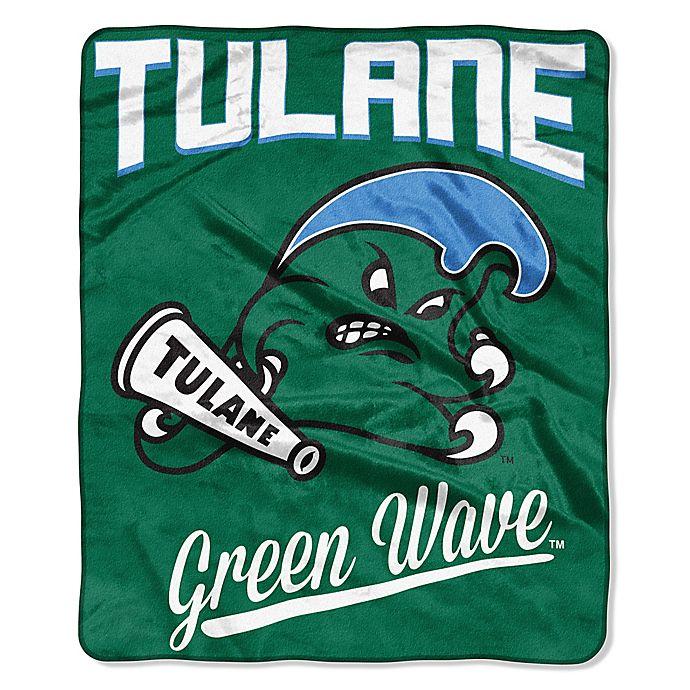 Alternate image 1 for Tulane University Plush Raschel Throw Blanket