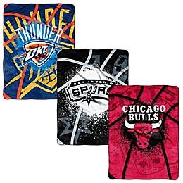 NBA Shadow Play Raschel Throw Blanket Collection