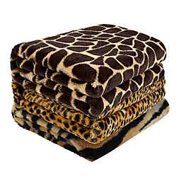 Cozy Tyme Faux Fur Reversible Throw Blanket