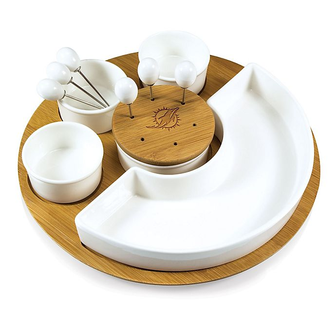 Alternate image 1 for Picnic Time® NFL Miami Dolphins Symphony Appetizer Set