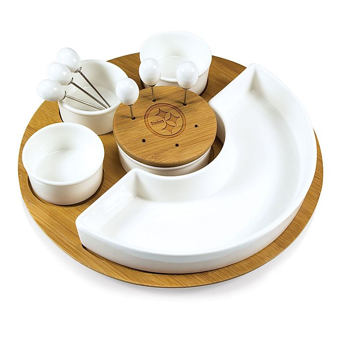 Alternate image 1 for Picnic Time® NFL Pittsburgh Steelers Symphony Appetizer Set