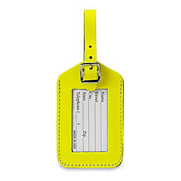 Neon Bonded Leather ID Luggage Tag