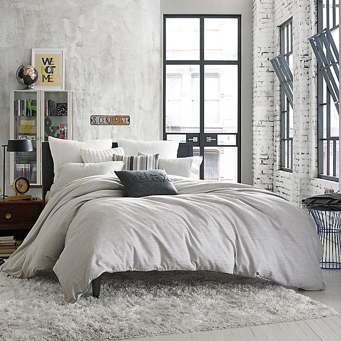 Alternate image 1 for Kenneth Cole Reaction Home Element Reversible Duvet Cover in Grey Mist