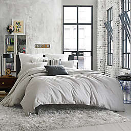Kenneth Cole Reaction Home Element Reversible Duvet Cover in Grey Mist