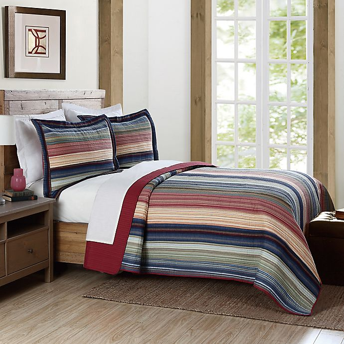 Alternate image 1 for Brooklyn Loom Lake Stripe Yarn Dye Quilt